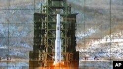 Старт северокорейской ракеты «Ынха-3»