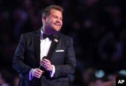 James Corden, anfitrión de la entrega 60 de los premios Grammy. Madison Sqare Garden. Nueva York, 28-1-18.