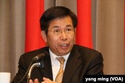 台湾教育部长潘文忠(美国之音杨明拍摄)