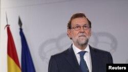 Perdana Menteri Spanyol, Mariano Rajoy di Istana Moncloa, Madrid, Spanyol, 7 September 2017. (Foto: dok).