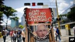 Người biểu tình chống chính phủ tại Venezuela