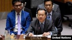 中国常驻联合国代表马朝旭(资料照片)