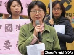 台灣人權促進會秘書長蔡季勳(美國之音張永泰拍攝)