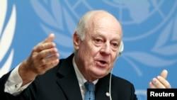 스테판 데 미스투라 유엔 시리아 특사 (자료사진)