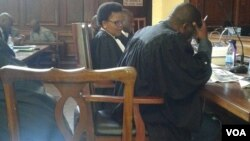 Lawyer Beatrice Mtetwa in the High Court today.