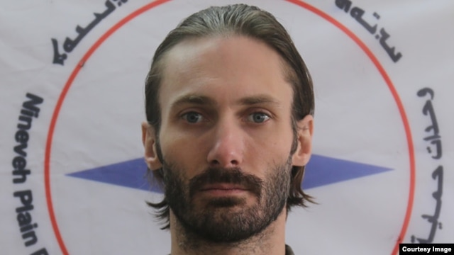 Matthew VanDyke, founder of Sons of Liberty International, or SOLI, a nonprofit group helping to train a militia of Assyrian Christians, whose northern Iraq homeland has come under attack by the Islamic State group.