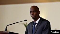Prezidan ayisyen an, Jovenel Moise, ki mouri asasinen nan kòmansman jounen mèkredi 7 jiyè 2021 an.