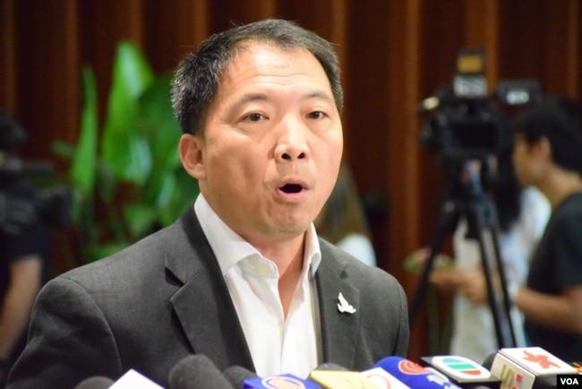 资料照:香港民主党主席胡志伟