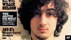 Tersangka pemboman maraton Boston Dzhokhar Tsarnaev tampil di majalah Rolling Stone edisi 1 Agustus 2013. (AP/Wenner Media)