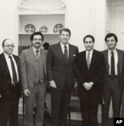 James Zogby (far right) with President Ronald Reagan