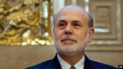 FILE - Federal Reserve Chairman Ben Bernanke at the Federal Reserve Board of Governors, Washington, Dec. 2, 2013.