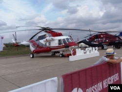 中国从俄罗斯大量采购各种直升机,其中包括米-17型直升机。2013年莫斯科航展上展出的米-17直升机