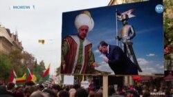 Erdoğan Macaristan'da Protesto Edildi