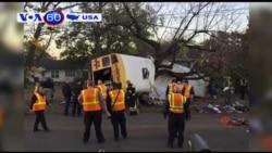 Mỹ: Tai nạn xe bus giết chết 5 em nhỏ (VOA60)