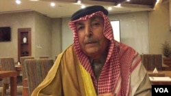 """Major General Abdel Razzaq Mijbil al Waggaa, an older Sunni sheikh who served in Saddam Hussein's army before the United States disbanded it in 2003, says the Sunnis' biggest problem is that """"we don't have real political and religious leaders."""""""