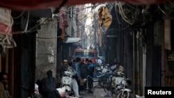 Mesto požara u Nju Delhiju