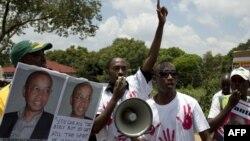 Abayoboke b'ishyaka RNC ritavugarumwe na guverinema ya Kigali
