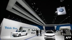 «Ֆոլքսվագեն» ընկերությունը` Դետրոյտի միջազգային ավտոցուցահանդեսում, 2011թ, հունվար (արխիվային լուսանկար)