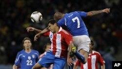 Talyaaniga iyo Paraguay oo 1-1 Isku Mari waayay