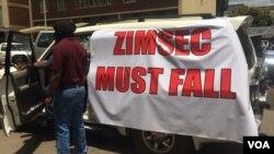 Bafuna kuvalwe uhlangothi lweZIMSEC.