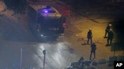 伊斯坦布尔示威现场的警察