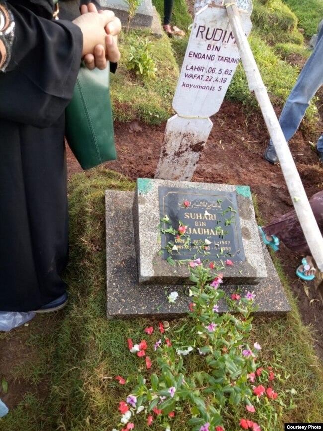 Makam almarhum Rudi Mulia Prabowo di Tempat Pemakaman Umum (TPU) Prumpung, Jatinegara, Jakarta. (Foto: dokumentasi keluarga)