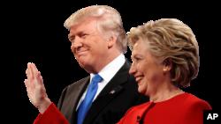 도널드 트럼프(왼쪽) 공화당 대통령 후보와 힐러리 클린턴 민주당 후보.