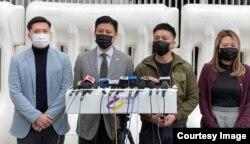 """公民党副主席谭文豪(左二)表示,新冠肺炎疫情冲击下, 香港人期望财政预算案推出纾困措施可以带来希望,现在反而换来""""绝望"""" (公民党图片)"""