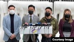 """公民黨副主席譚文豪(左二)表示,新冠肺炎疫情衝擊下, 香港人期望財政預算案推出紓困措施可以帶來希望,現在反而換來""""絕望""""。 (公民黨圖片)"""