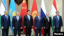 上海合作組織成員國領導人在2013年峰會上