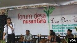 Budiman Sudjatmiko dalam Forum Desa Nusantara di Magelang.