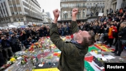 Belgians Hold Moment of Silence for Terror Attack Victims