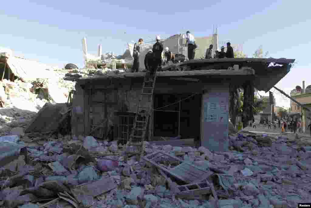 Hələb şəhəri bomba hücumndan sonra - 1 may, 2014