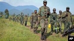Pasukan Kongo meningkatkan tekanan terhadap para gerilyawan Rwanda di Kongo timur (foto: dok).