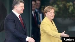 Канцлер Германии Ангела Меркель во время совместной пресс-конференции с президентом Украины Петром Порошенко