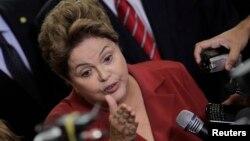 Presiden Brazil Dilma Rousseff menjamin bahwa turnamen Piala Dunia di Brazil akan berlangsung sukses (foto: dok).