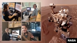 Members of NASA's Curiosity Mars rover mission team photographed themselves on March 20, 2020, the first day the entire mission team worked remotely from home. (Photo Credit: NASA/JPL-Caltech)