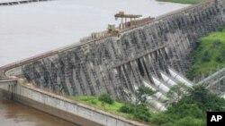 在非洲剛果民主共和國的水利發電大壩。