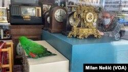 Edvard Kompton i njegov dvadesetogodišnji papagaj Doktor Peper
