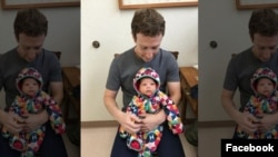 Mark Zuckerberg and daughter Maxima going to the doctor for vaccines. Facebook grab..jpg