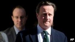 24일 영원 하원 의사당에서 데이비드 캐머런 영국 총리. (자료사진)