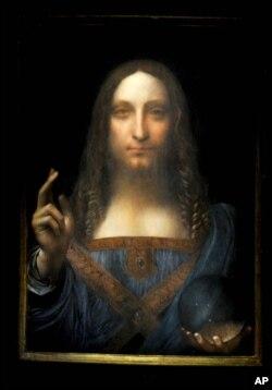 "Leonardo da Vinci Painting ""Salvator Mundi"""