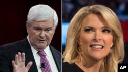 """Newt Gingrich y Megyn Kelly tuvieron una discusión subida de tono durante el programa """"The Kelly File""""."""