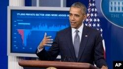 Presiden Amerika Serikat, Barack Obama di Gedung Putih, Jumat (6/5).