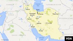 Bản đồ Iran.