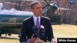 Prezident Barak Obama, Oq uy oldida, 20-mart, 2014