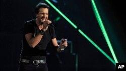 """Luke Bryan se llevó el premio como """"Mejor artista del año"""" en la entrega de los Premios de la Academia de la Música Country, en Las Vegas. n Las Vegas."""