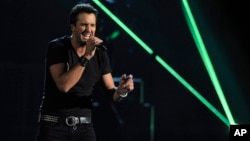 Luke Bryan en la cuadragésima octava entrega de los premios de la Academia de Música Country.