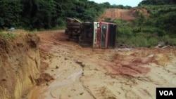 Mau estado das estradas provoca acidentes