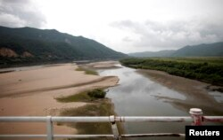 FILE - A part of the Tumen River is seen at the border between China and North Korea in Wonjong-ri, Rason, North Korea, Aug. 29, 2011.